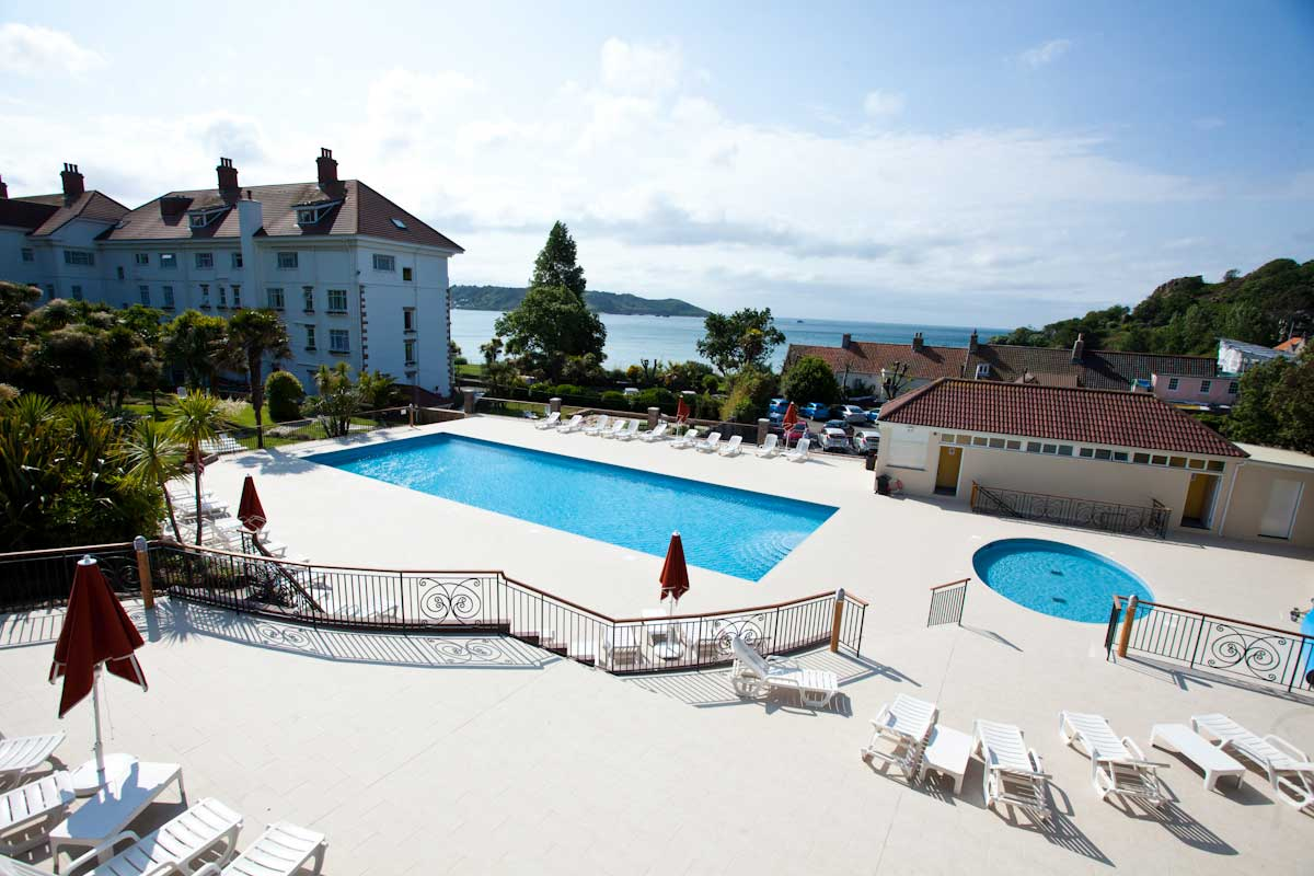 St Brelade's Bay Hotel, External Cafe, Pool & Landscape 1